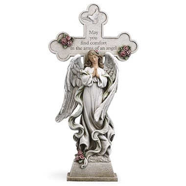 "18"" Praying Angel with Cross"
